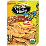 Health Valley Crackers, Organic Whole Wheat, 6-Ounce Boxes (Pack of 6)
