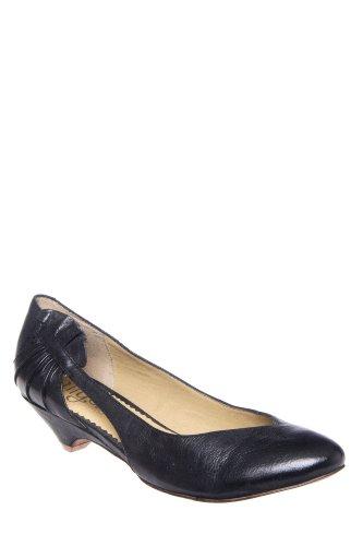 Latigo Kaya Ruffle Detail Low Heel Almond Toe Pump