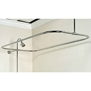 Barclay Rectangular Shower Rod, 48-Inch