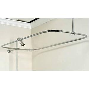 Barclay 4150-48-CP Rectangular Shower Rod, 48-Inch