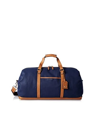 Cole Haan Men's Waxed Canvas Duffle Bag, Navy