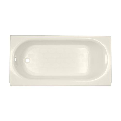 American Standard 2390.202.222 Princeton Recess 5-Feet by 30-Inch Left-Hand Drain Bath Tub, Linen