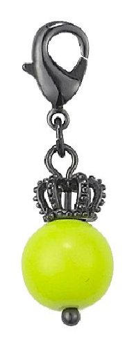 Pilgrim Women's Charms Pendant Black Metal, Lime 560325