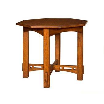 Octagonal Lamp Table by Broyhill - Warm Nutmeg Finish (4078-007)