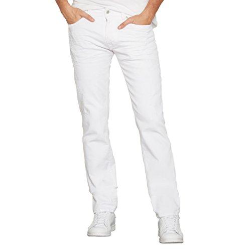 Kaporal Uomo Jeans Taglio Straight Broz Taglia 284 Bianco
