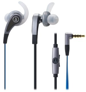 Audio-Technica SonicFuel in-ear headphones for Smartphones with In-line Mic -0 - Control ATH-CKX9iS SV (Silver) [parallel import goods]