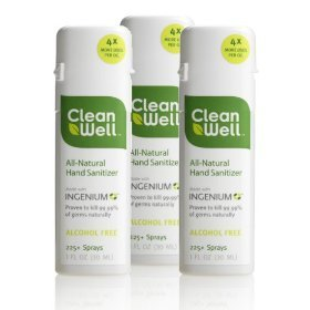Cleanwell Hand Sanitizer Spray Case 24 / 1 Oz