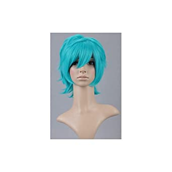 Hidan no Aria Cosplay Costumes Wig Long Wigs Costume with Wig Cap Turquoise