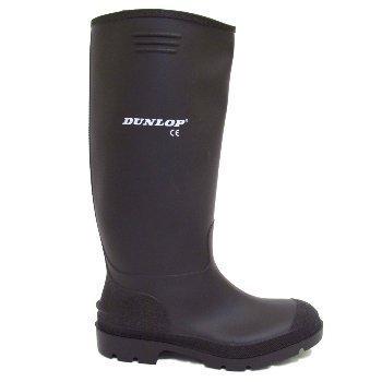 Mens Dunlop Black Wellies Wellington Welly Rain Boots Size 10
