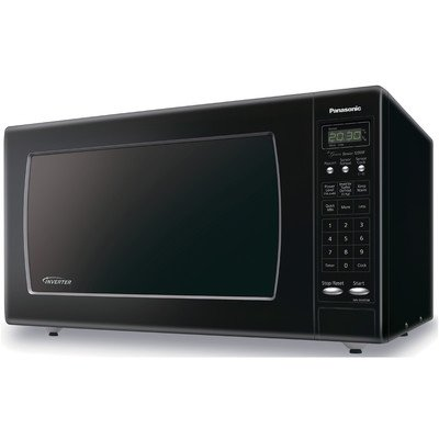 Panasonic NN-SN933B Sensor Microwave Oven with Inverter Technology, 2.2 Cubic Feet, Black