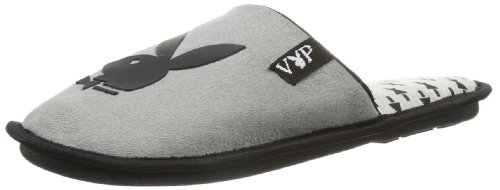 Playboy Mens Irvin Slippers Gray grey Size: 44