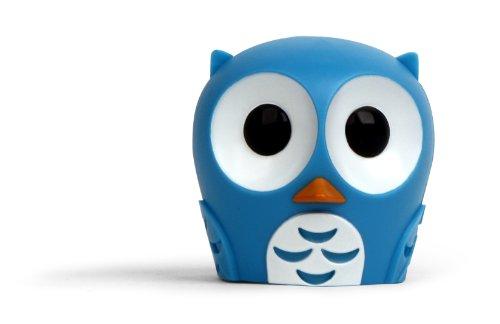 Kikkerland Owl Suction Cup Toothbrush Holder, Light Blue front-646177