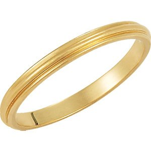Genuine IceCarats Designer Jewelry Gift 10K Yellow Gold Wedding Band Ring Ring. 02.00 Mm Half Round Edge Band In 10K Yellowgold Size 15