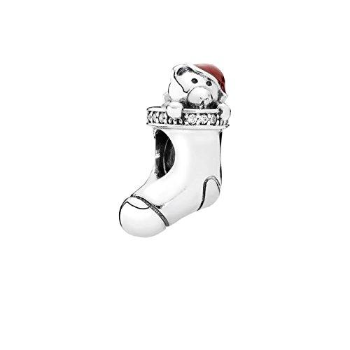 Pandora 791773CZ Christmas Stocking, Red Enamel & Clear CZ