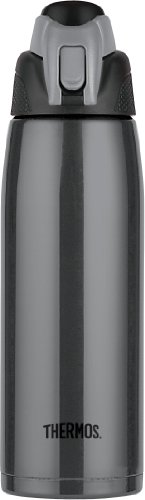 Thermos Vacuum Insulated 24 Ounce Stainless Steel Hydration Bottle, Charcoal