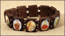 Square Panels Devotional Saints Bracelet