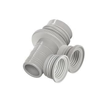 BrandTech 2704870 Polypropylene Bottle Thread Adapter Set, 33mm/24mm, 33mm/28mm, 45mm/33mm and 45mm/38mm OD