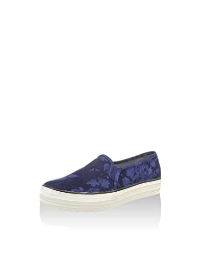 Keds Slip-On Triple Decker Floral Denim