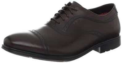 Rockport Men's Fairwood 2 Cap Oxford,Dark Brown,8 W US