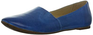 Chocolat Blu Women's Alexa Flat,Blue Leather,8.5 M US