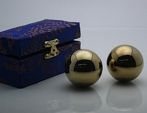 #5 Golden Chinese Healthy Exercise Massage Metal Balls
