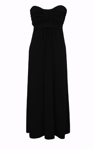 Black Butterfly Long Elegant Wedding Evening Prom Maxi Dress (BBD014)