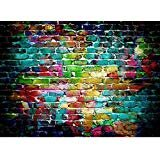 Mohoo 7x5FT Colorful Brick Wall Silk Photography Backdrop for Studio Prop Photo Background 2.1x1.5m (Color: silk backdrop)