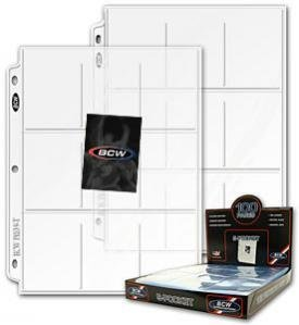 20 BCW Pro 9-Pocket Trading Card Pages by BCW TOY (English Manual)