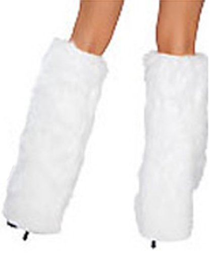 Un-Brand Women's White Fur Boot Cover S003680
