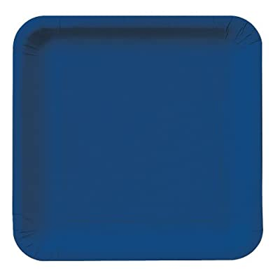 Creative Converting Touch of Color 18 Count Square Paper Lunch Plates, Navy from Creative Converting