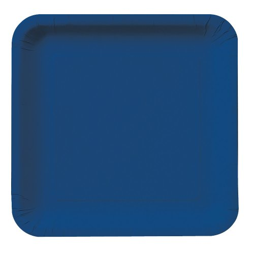 Creative Converting Touch Of Color 18 Count Square Paper Lunch Plates, Navy front-210085