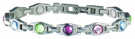 Sabona Lady Executive Multicolor Gem Magnetic Bracelet