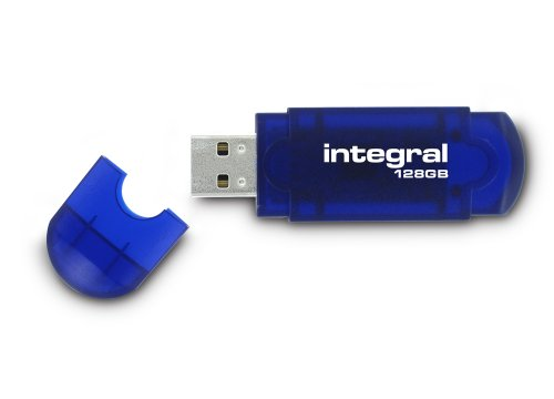 Integral Evo Clé USB 128 Go Bleu