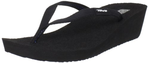 Teva Women'S Ribbon Mush Flip Flop,Black,6 M Us front-1041007
