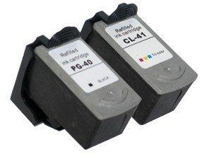 2 Druckerpatronen Tinte für Canon Pixma MP150 MP160 MX310 IP1600 IP2500 ersetzen PG-40 und CL-41