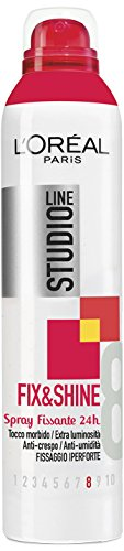 L'Oréal Paris Studio Line Fix&Shine Spray Fissaggio Iper-Forte, 250 ml