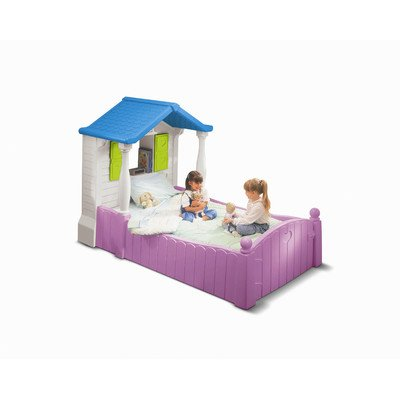 An Image of Little Tikes Storybook Cottage Twin Bed, Purple