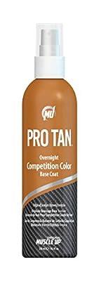 Pro Tan Overnight Competition Color Base Coat Original Suntan Brown Spray 8.5 fl. oz