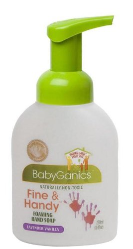 BabyGanics Fine & Handy Foaming Hand Soap, Lavender Vanilla, 8.45-Fluid Ounce Bottles (Pack of 2)