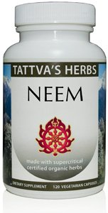 Neem Extract By Tattva'S Herbs (100% Certified Organic, Supercritical Extract, 500 Mg.) 120 Vegetarian Capsules (Pack Of 2)