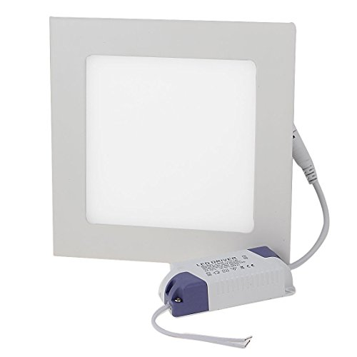 12W Warm White Led Panel Light Square Ceiling Downlight Ac 85-265V