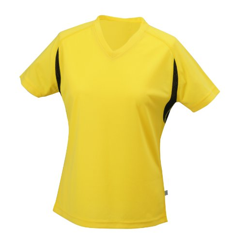 James & Nicholson Women's Running T-shirt - Yellow, L