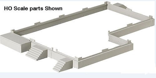 Walthers Cornerstone Series N Scale Modulars Foundation & Loading Docks (933-3283)