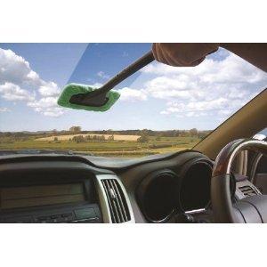 Windscreen Glass Cleaning Clean, Demist & Shine Long Handle Wiper Cloth