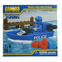 Best-Lock Construction Policeman and Boat 50 Pieces - 1
