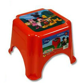 Home kitchen furniture kids furniture step stools - Mickey mouse stool ...