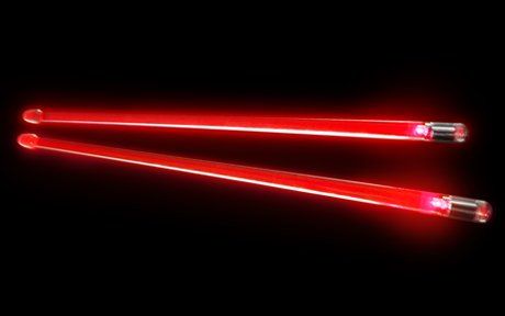 ION Firestix Light-Up Drumsticks Red