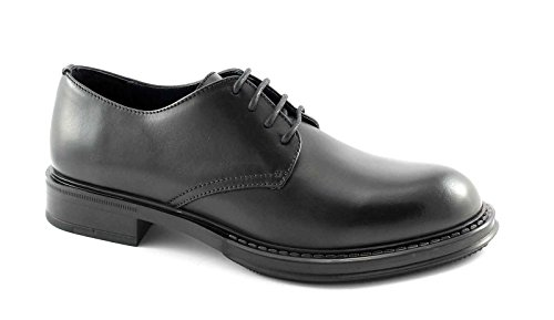 FRAU 75P1 nero scarpe uomo derby liscio pelle