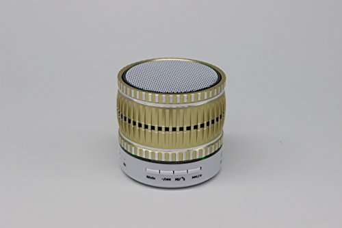 (2015 New Arrival)high Quality Mini Lightweight Portable Premium Sound Wireless Bluetooth Speaker with Rechargeable Battery - Enhanced Bass, Support Micro Tf Card with LED Light(S68U-Yellow) led dancing water mega bass bluetooth speaker with aux in tf card port grey
