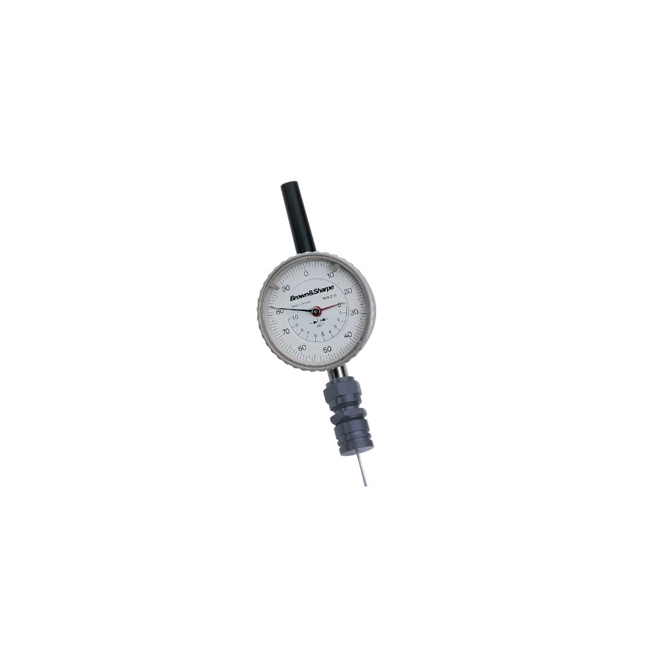 Brown & Sharpe 599 610 Dial Depth Gauge for Small Holes, Indicator Type, 0.650 Range, 0.001 Resolution, +/ 0.001 Accuracy